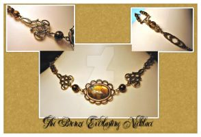 Bronze Everlasting Necklace by karemelancholia