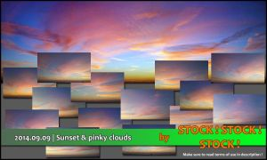 2014.09.09 | Sunset and pinky clouds by Stock-Stock-Stock