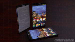 Xeno A6 Piano Black - e-reader smartphone concept by TheRockyDoo