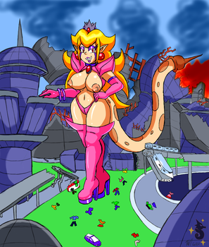 Commission: Attack of 50ft Peach by Shining-Tatsu