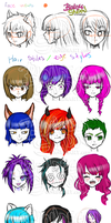 Reference for hair or eyes : D by blondeeshadow