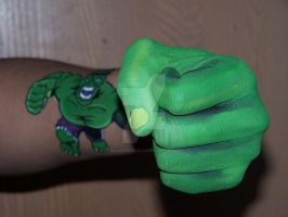 The Incredible Hulk Perspective Body Art by Peacekeeperj3low