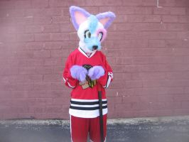hockey player Patchi by furryRaver21