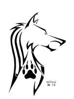 Wolf Head tribal design by DragonWolfACe