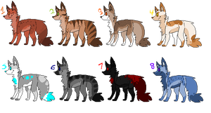 Canine Batch 1 by AutMadi-Adopts