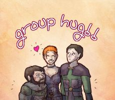 Leliana's Song: Group Hug by sqbr