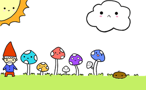 animated mushrooms by nyapo