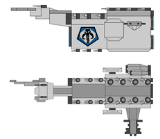 Mandalorian Command Cruiser by JediArtisan