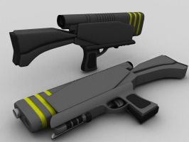 BattleZone - ISDF Pulse Rifle by NoStr0m0