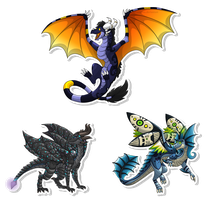 Com: Frosted-Monster simple dragons by Panoptos