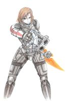 ME3 - Shepard by WinryElric