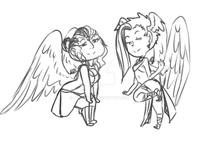 Angels In The house by Kitratre