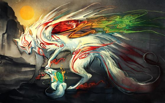 .Okami. Good Boy. by sakimichan