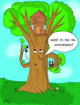 A Tree Calls Pest Control by jared811111