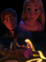 Eugene and Rapunzel Campfire by x12Rapunzelx
