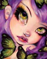 Green Eyed Violet by wescoatart