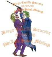 Joker vs Joker by dviouz