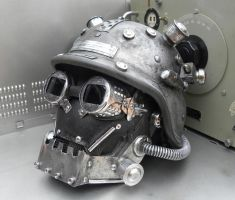 Dieselpunk Mask MK V with helmet by Zilochius