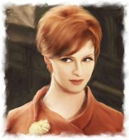 christina hendricks by vinyeet-nerd