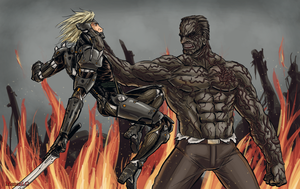 Metal Gear Rising: Raiden vs Armstrong by MenasLG