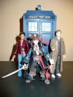 Doctor Martha and Captain Jack by DoctorWhoNC