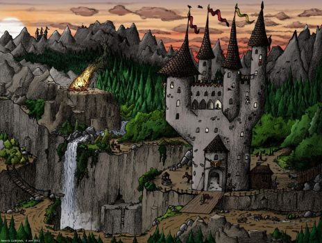 Castle In A Valley by lidbjork