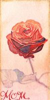 Rose Bookmark by GuardtheDoors