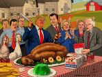 ANIMAL COUNTRY - THE FEAST OF THE PIGS by HalHefnerART