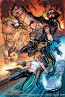 Danger Girl Poster Color by J-Scott-Campbell