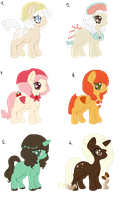 Sweet Ponies Adoptables [CLOSED] by acervine