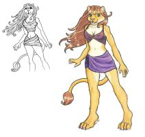 Lioness - Before And After by Firebringer