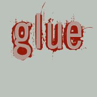 Bloodied by glue