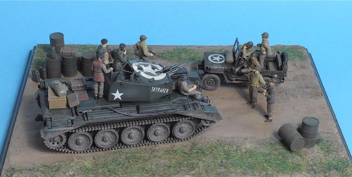 Crusader MK III / Willis Jeep 1:48 (2) by Low688