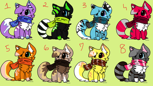 Scarf Kitty Adoptables [CLOSED] by mossyyadopts