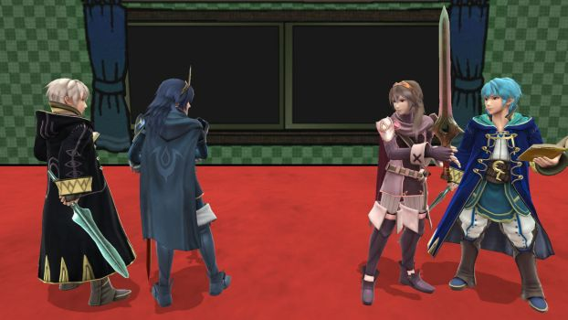 Robin x Lucina: Meeting their Alt. color clones by alienskiller1
