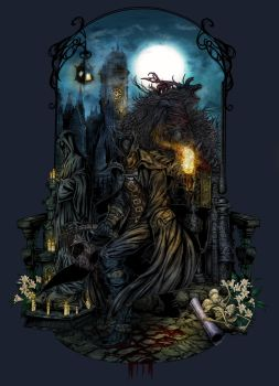 Bloodborne - The Hunt by EllipticLeaf
