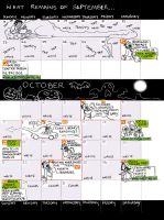 Sept/Oct schedule, avec Dragon by tinycoward