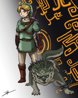 EXCHANGE:: Link and Wolf Link by girldirtbiker