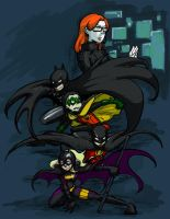 Batman family by Goshoku