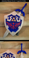 Halloween Master Sword and Hylian Shield by Solvash