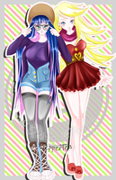 Panty and Stocking urban style by xPepperTea