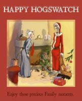 Hogswatch card by Pika-la-Cynique