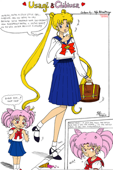 Usagi + Chibiusa Collab Comic by laprasking