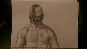 Bane from Batman drawing by NJSFX