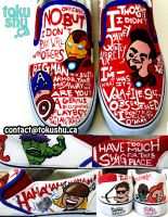 Avengers Quote Shoes by artsyfartsyness