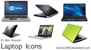 Laptops Icon Pack by davinci1993