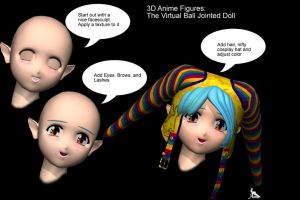 3D Anime The Virtual BJD by AreeElf