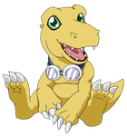 Agumon Chilling with the Goggles by neo-dragon