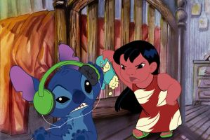 Lilo Stitch and the Weird Doll by qba86