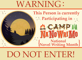 Camp NaNo poster by LuluLullaby2012